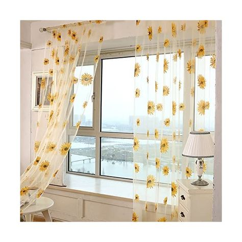 29 Sunflower Curtains Ideas In 2021 Painting Shower