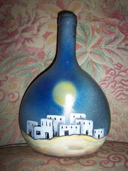 Risultati immagini per botellas pintadas a mano