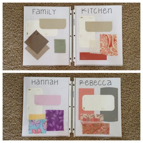 Create A Swatch Book For Your House Add Paint Chips Fabric
