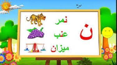حروف اللغة العربية حرف ن Learning Arabic Novelty Sign Mario Characters