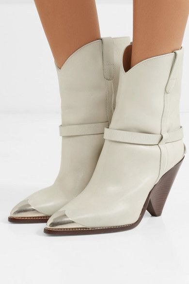 dcceabe024a Isabel Marant - Lamsy metal-trimmed leather cowboy boots | Fall 2018 ...