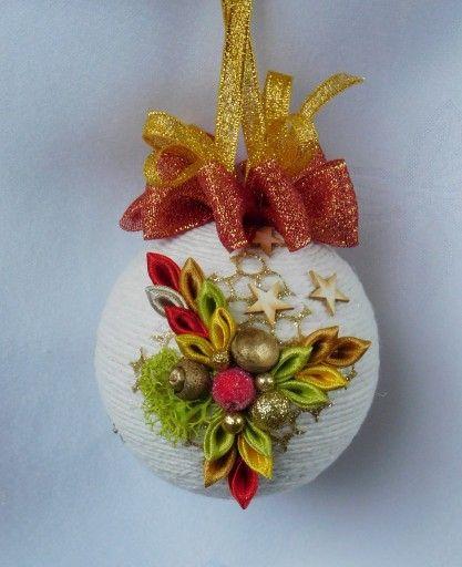 Bombka Sznurkowa Na Choinke Prezent Rekodzielo 8106829652 Oficjalne Archiwum Allegro Christmas Bulbs Christmas Ornaments Holiday Decor