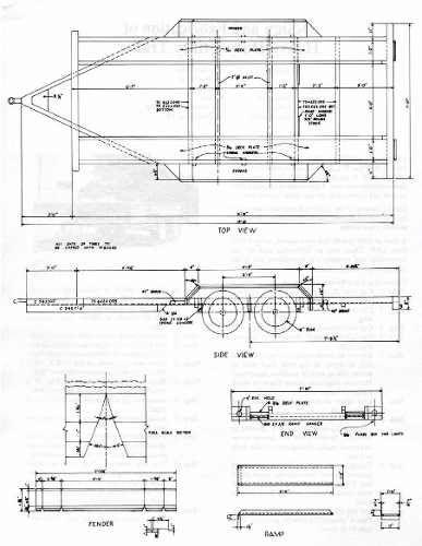 Planos Para Fabricar Trailer Acoplados O Batan Remolques De Caballos Remolque Para Carro Acoplado Para Uso General
