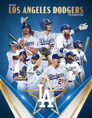 Dodgers 2020 Yearbook In 2020 Dodgers Dodgers Baseball Los Angeles Dodgers