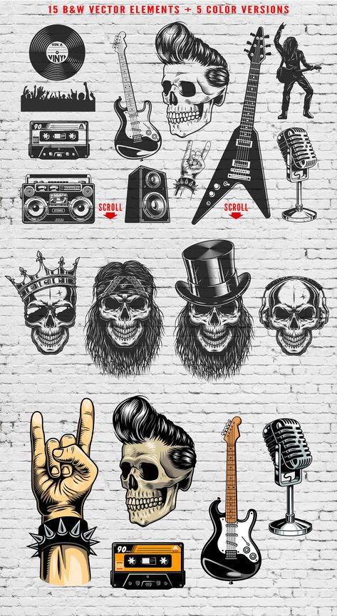 Rock and Roll bundle #flyers#area#materials#posters