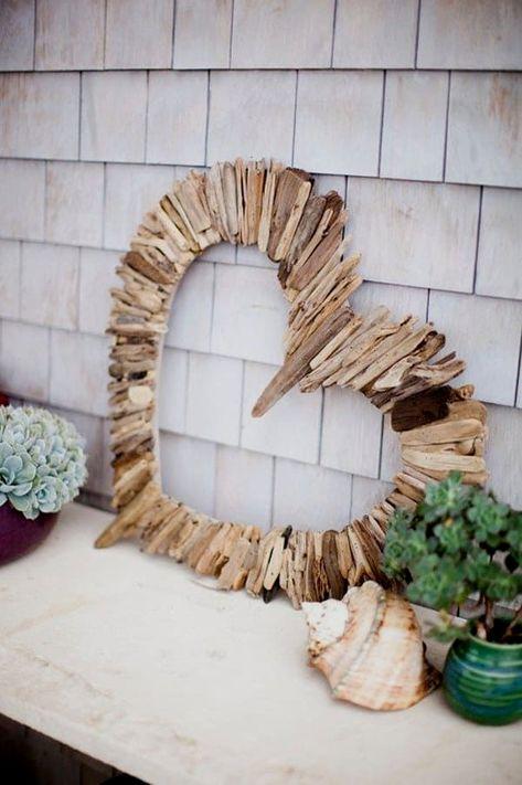 driftwood heart #driftwoodwallcrafts
