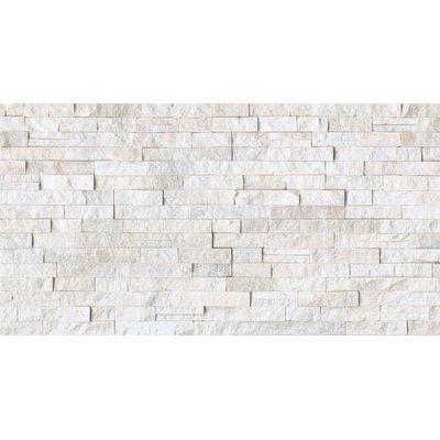 Bedrosians Cleft Split Face Ledger Random Sized Slate Mosaic Tile
