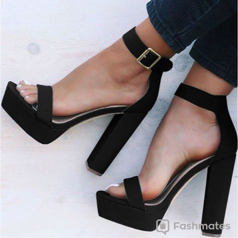Sexy Open Toe Chunky Heeled Sandals is part of Shoes -