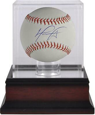 David Ortiz Boston Red Sox Signed Baseball And Mahogany Baseball Display Case Sportsmemorabilia Autograph Baseb Baseball Display Case Boston Red Sox Red Sox