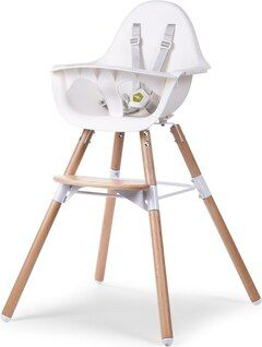 Evolu 2 Blanc Natural Chaise Haute Baby Bath High Chair Chair
