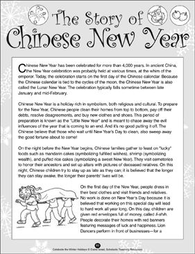 The Story Of Chinese New Year Printable Lesson Plans Ideas And Skills Sheets Chinese New Year Activities Chinese New Year Crafts Chinese New Year Party