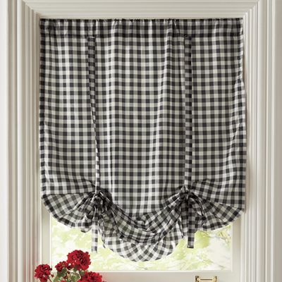 Gingham Check Tie Up Shade From Country Door Tie Up Shades