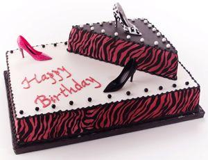 Hot Pink and Black Zebra Print Birthday Cake Pumps Purses