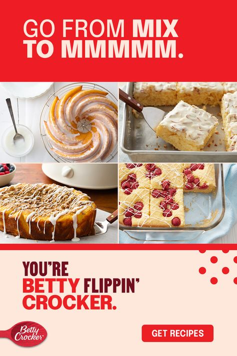 You're just one box of yellow cake mix away from a dessert that can make any day more delicious. These dessert ideas start easy, but with a few ingredients, you can turn up the flavor and fun fast. Check out 34 ways we went from box to boom!