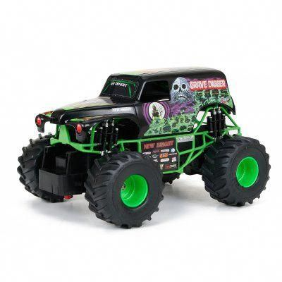 New Bright Monster Jam Grave Digger Radio Controlled Toy ...