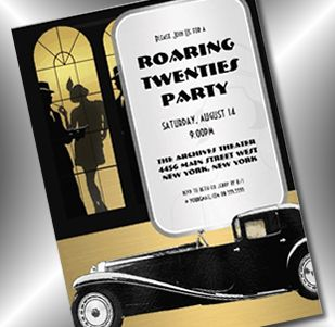 Paper Perfection Roaring Twenties 1920s Party Invitations And