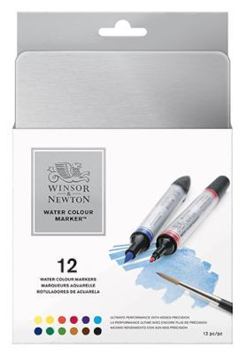 Winsor And Newton Watercolour Marker Set Of 12 Arts Crafts