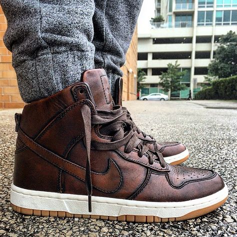 Nike SB Dunk Hi: Burnished Leather