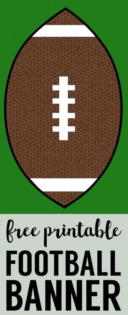 Cheap Super Bowl Decorations Football Banner Paper Trail Design Football Banner Super Bowl Decorations Diy Super Bowl