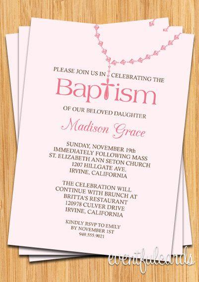 baby girl rosary baptism invitation isabella s baptism ideas