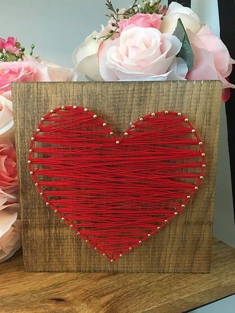 Valentines Day Heart String Art Valentines Day Decor | Etsy