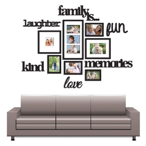 Wallverbs 13 Piece Family Is Photo Frame Set In Satin Black Bed Bath Beyond Family Tree Wall Pictures Photo Wall Decor Picture Frame Wall