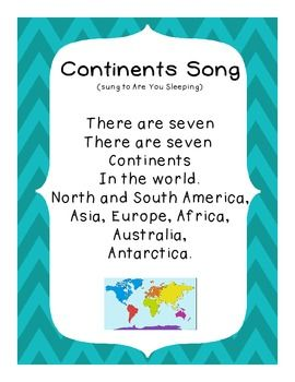 """My favorite way to teach!!! """"Free Continent Song"""""""