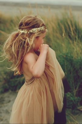 bohemian flower girl - So cute!