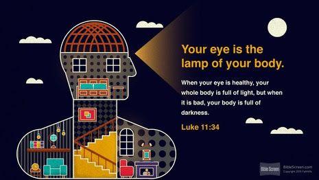 Luke 11:34 | A Lamp Unto My Feet (聖書) | Pinterest | Luke 11 and ...