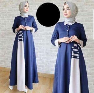 Baju Gamis Biru Dongker Cocok Dengan Jilbab Warna Apa