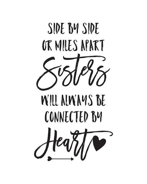 Printable Sister Quotes Sisters Quote Sisters Wall Art Big Sister Gift Sister Gifts For Sister Wall Decal Sisters Connected By Heart -  Printable Sister Quotes Sisters Quote Sisters Wall Art Large | Etsy  - #art #Big #christmasforsister #Connected #Decal #Gift #gifts #heart #perfectgiftforsister #Printable #Quote #Quotes #sister #sisters #wall