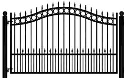 Wrought Iron Gates Driveway And Garden Residential Fence Security Fencing Automatic Gate Opene Wrought Iron Driveway Gates Iron Gates Driveway Driveway Gate