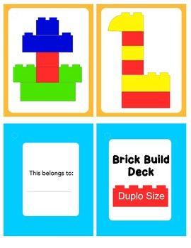 Duplo Pattern Cards Lego For Kids Duplo Lego Activities