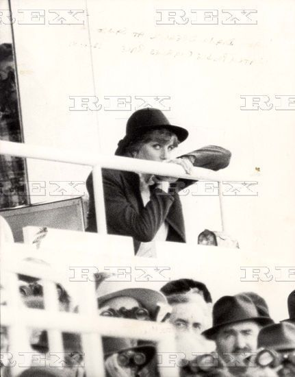 March 13, 1981: Lady Diana Spencer at Sandown Park Racecourse, Surrey.