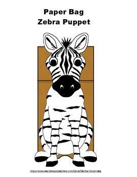 Paper Bag Zebra Puppet Kitap