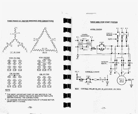 Motor Wiring Diagram 3 Phase