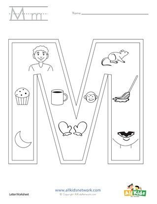 Letter M Coloring Page Letter A Coloring Pages Coloring Pages Preschool Coloring Pages