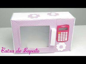 Como Fazer Microondas De Caixa De Sapato Ou Papelao Cozinha De