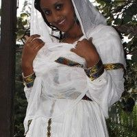 Ethiopian traditional dress long sleeve with beautiful hand embroidery