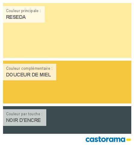 Castorama Nuancier Peinture - Mon harmonie Peinture CARTON JAUNE