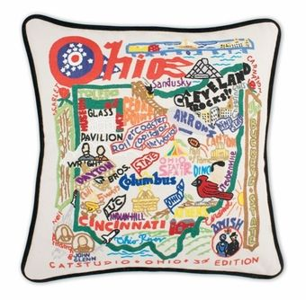 Embroidered Catstudio State Pillow