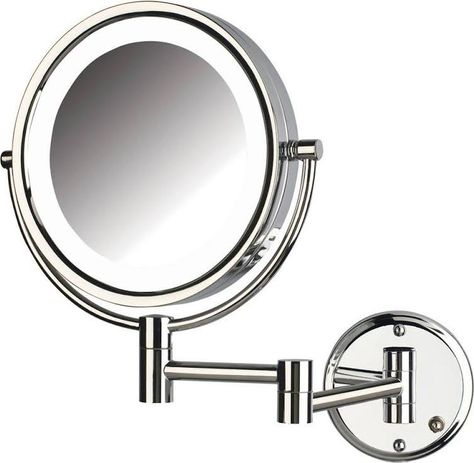 Hardwired Lighted Magnifying Mirror Wall Mounted Makeup Mirror