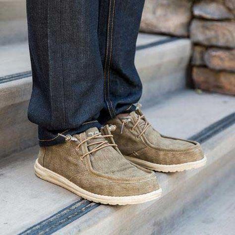 Zuerst Hey Dude s Wally Classic Chestnut Herren Schuhe