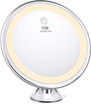 Miroir Grossissant X10 Lumineux Mural