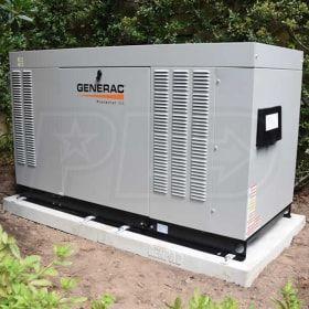 Genpad 10000044173 A Composite Cement Pad For Generac Liquid Cooled Protector Series Generators 22 30kw Generator House Backup Generator Steel Beams