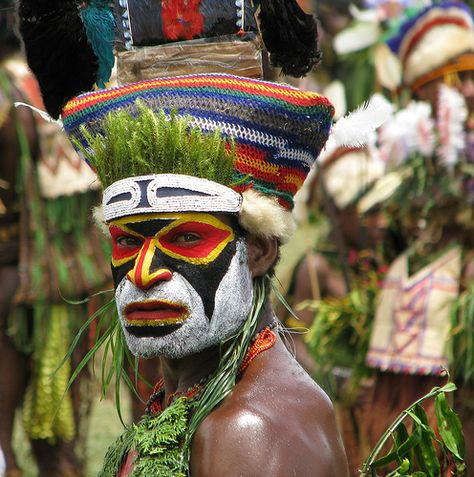 Papua New Guinea Face Art