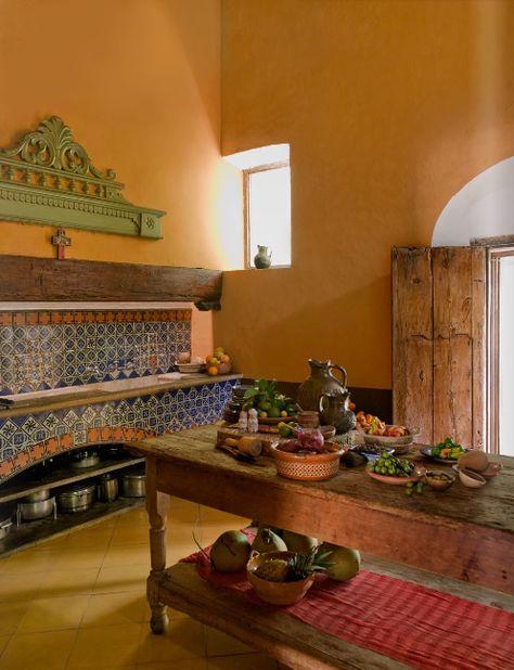 Casa-Hacienda-Cocina-kitchen-House-Mexico.png (497×648)