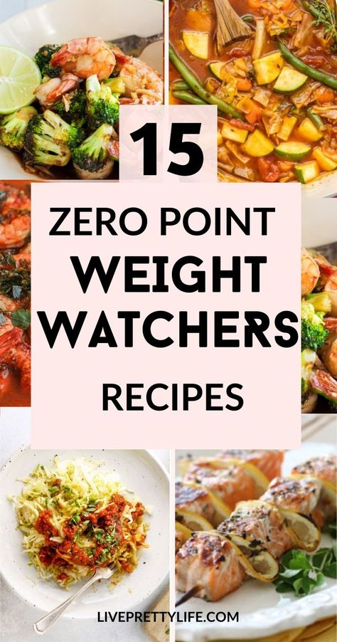 Zero Point Weight Watchers Food and recipe ideas that will help you to lose weight. And you will enjoy it.