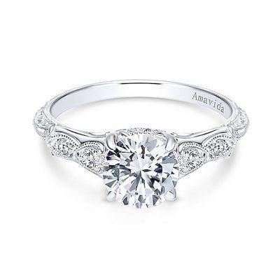 Diamond Beautiful Solitaire Wedding Vintage Vintage Engagement Rings Unique Diamond Engagement Ring Set White Gold Engagement Rings