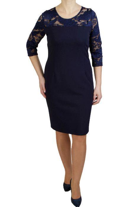 Granatowa Sukienka Alfa Midi Evening Dresses Dresses Model Dress
